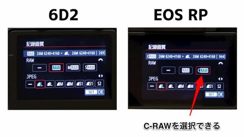 EOS RP,C-RAW
