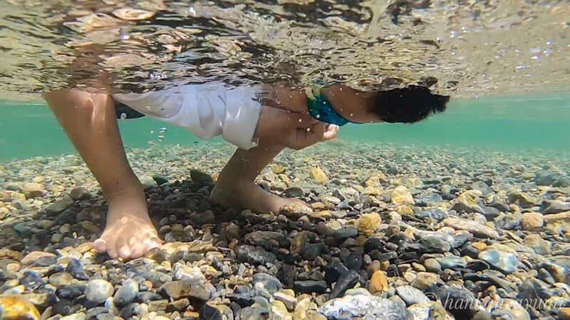 川遊び,水中めがね,子供