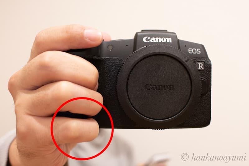 EOS RPの小指あまりによるグリップ感