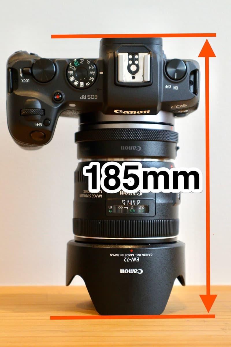 EOS RPとフード付きEF 35mmf2とマウントアダプター