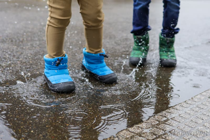 ifmeイフミーのブーツの防水性能