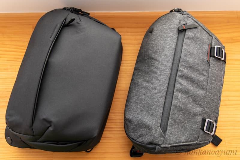 ピークデザインのエブリデイスリング 10L V2とV1の比較