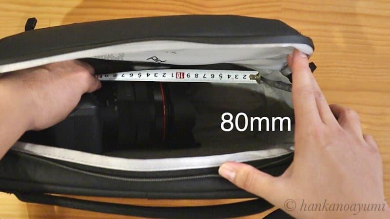 ピークデザインのエブリデイスリング10LV2の横幅内寸の限界
