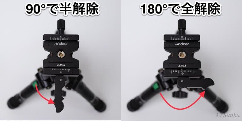 CL-50LSのレバーロック解除
