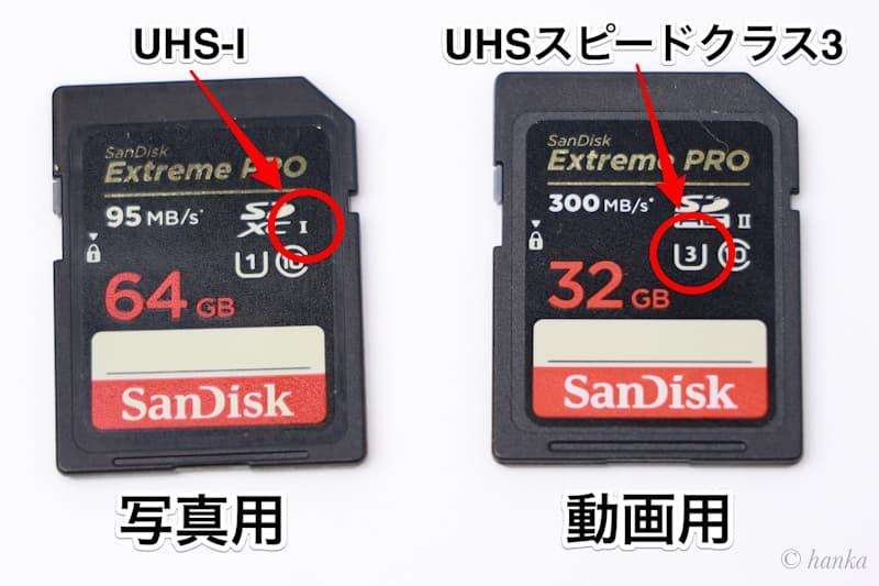 UHS-ⅠとUHSスピードクラス