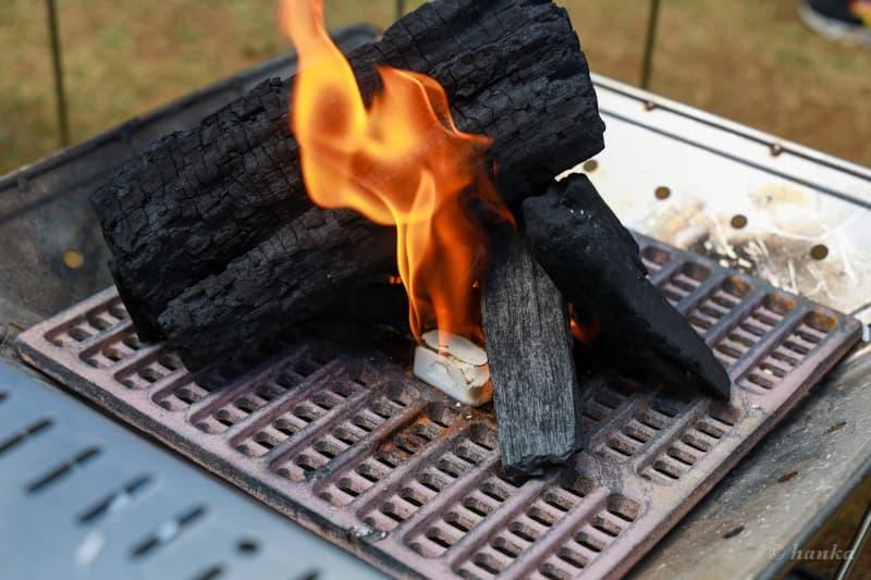 炭床の着火剤