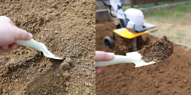 粘土質の土壌改良