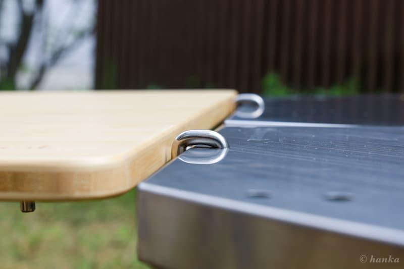 マルチファンクションテーブルとジカロテーブルの段差