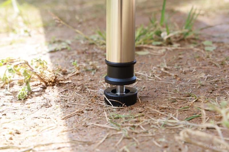 マルチファンクションテーブル竹の脚のアジャスター機能