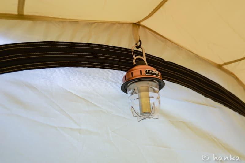 テント内のビーコンライト取り付け