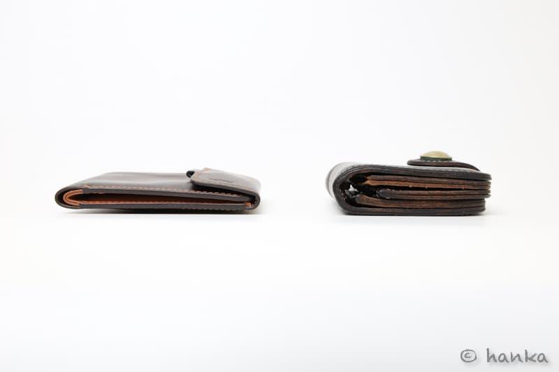 財布の薄さの比較