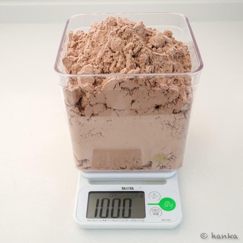 プロテイン1kg,何リットル