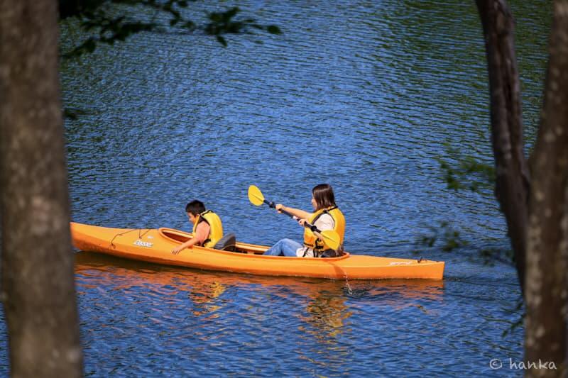 子供とカヌー